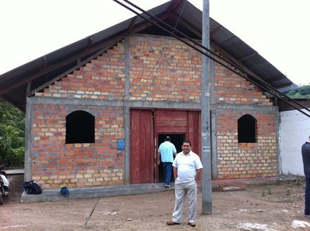 Provincial church building where we trained pastors